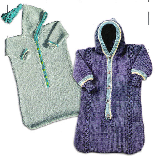 Knitted Baby Bunting Bag Pattern : BABY BUNTING CAR SEAT PATTERN Sewing Patterns for Baby