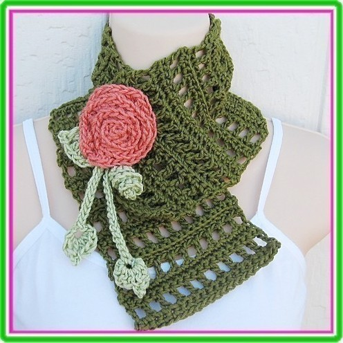 Knitting Pattern Quilted Lattice Ascot : NECK WARMER PATTERNS The Best Patterns
