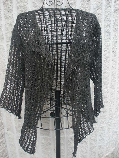 Crochet Stitch Jacket : ... tunisian crochet lace jacket this gorgeous lacey jacket works up in