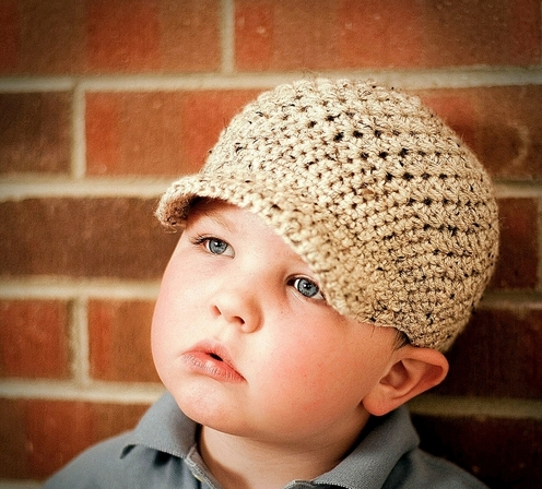 Free Crochet Pattern For Infant Newsboy Hat : PATTERNFISH - the online pattern store