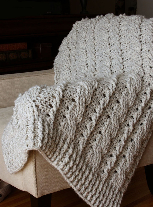 Crochet Cable Baby Blanket Pattern : free crochet cable afghan pattern Car Tuning