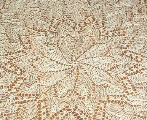 KNITTED LACE TABLECLOTH PATTERNS 1000 Free Patterns