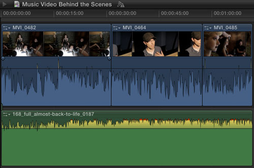 final cut x how to adjust part of sound