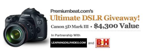 Premiumbeat DSLR Giveaway