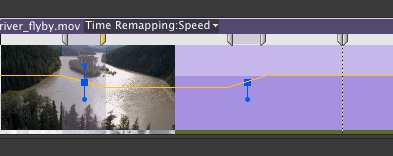 to create a smooth transition drag a speed keyframe