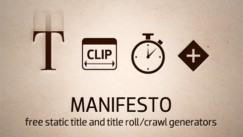 Manifesto Text Generator Video Editing