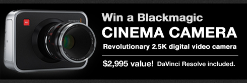 Blackmagic Cinema Camera Giveaway