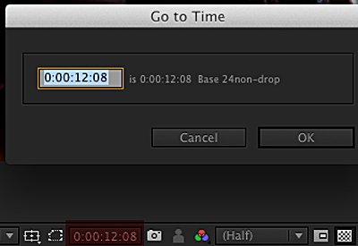 Go To Time - After Effects