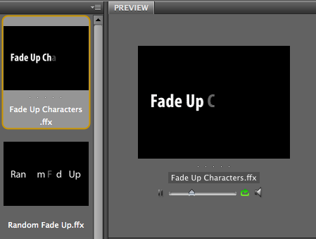 Fade Up Characters
