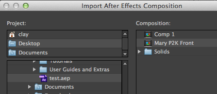 Import After Effects Composition