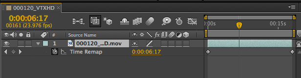 Time Remapping Keyframes