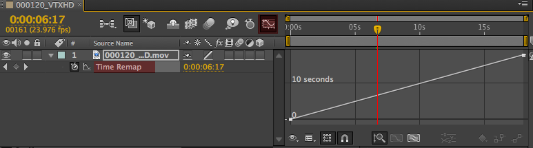 Time Remap  Graph Editor