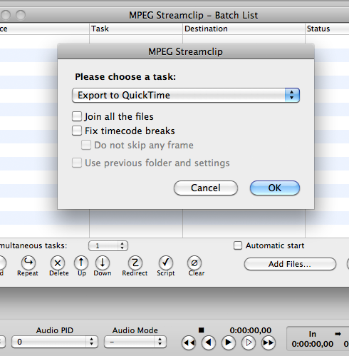 how to transcode footage with Mpeg Steamclip