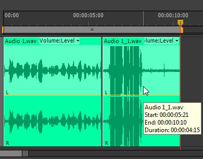 DistoredAudioTimeline