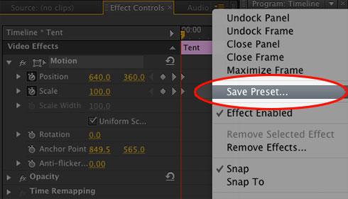 Premier-Pro-save-scale-preset