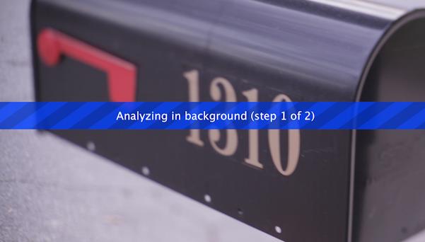 Warp Stabilizer Analyzing in Background