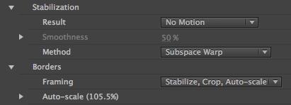 Stabilization Result No Motion