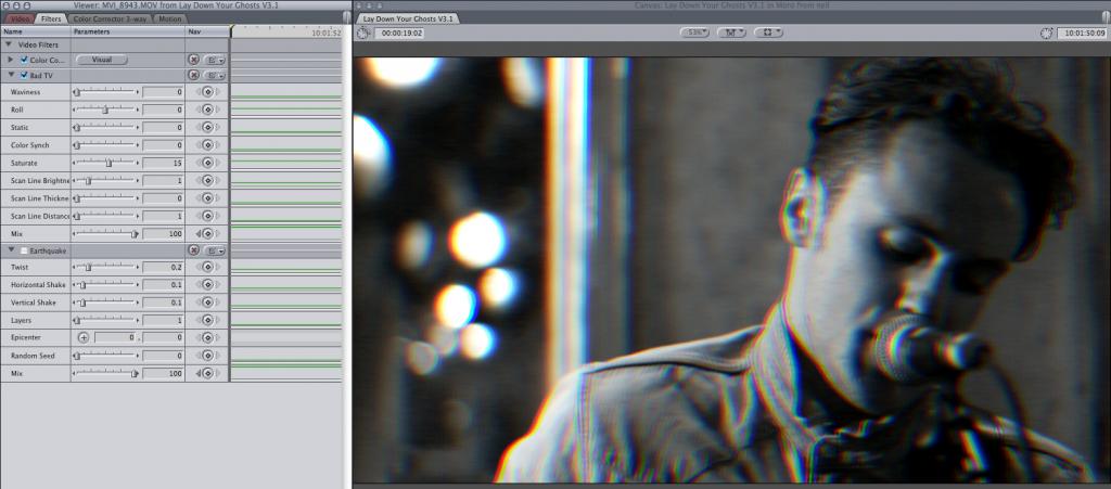 Grading a music video