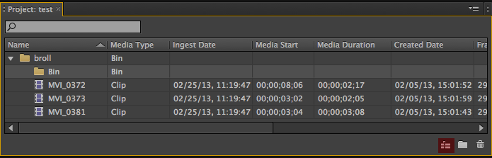 Rough Cut Adobe Prelude
