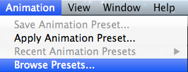 Browse Animation Presets