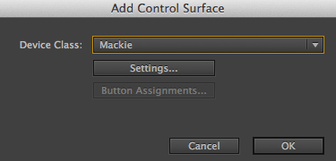 Control Surface Preference