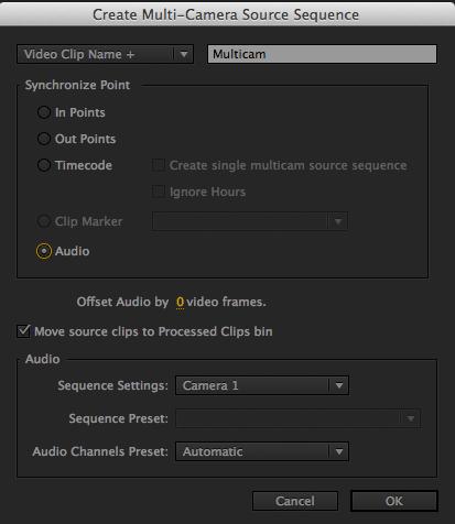 Multicam Sync to Audio