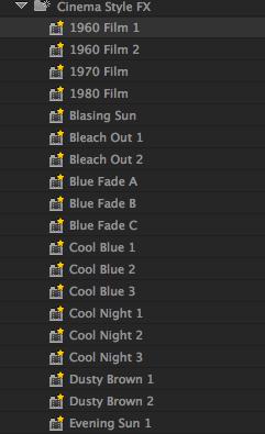 Film FX Presets