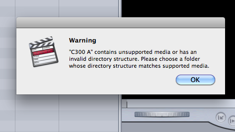 FCP7 Error with C300 Footage