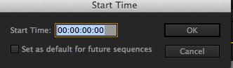 Start time Dialog