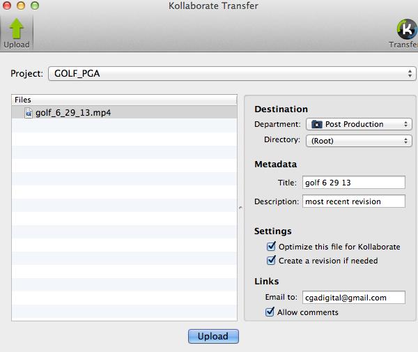 Kollaborate Transfer