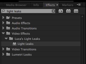 Luca FX Light Leaks