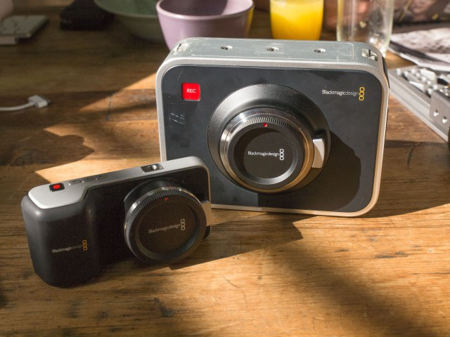 Blackmagic design cinema and pocket cameras