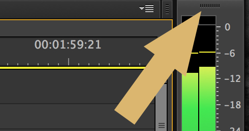 Audio Meters Premiere Pro