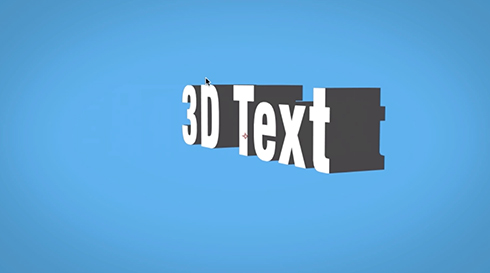 Shatter 3D Text After Effects
