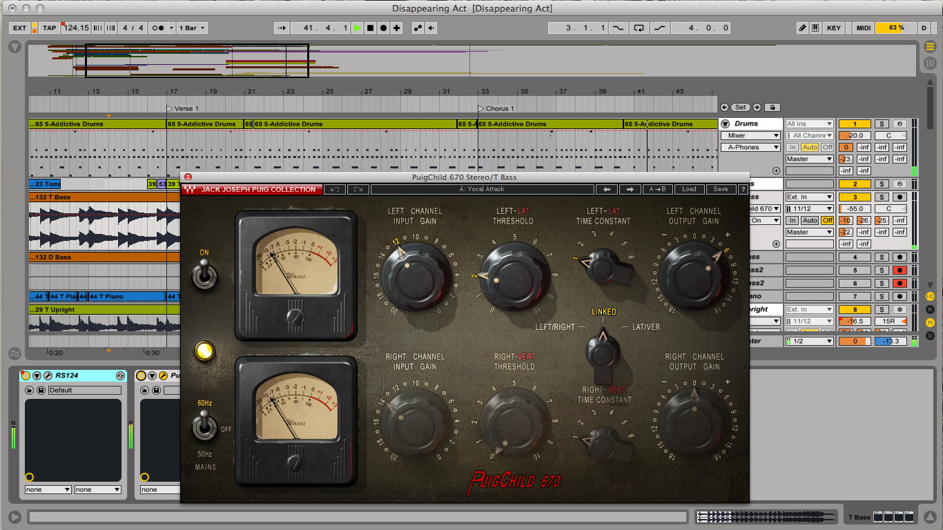 Demonstration of a VST compressor