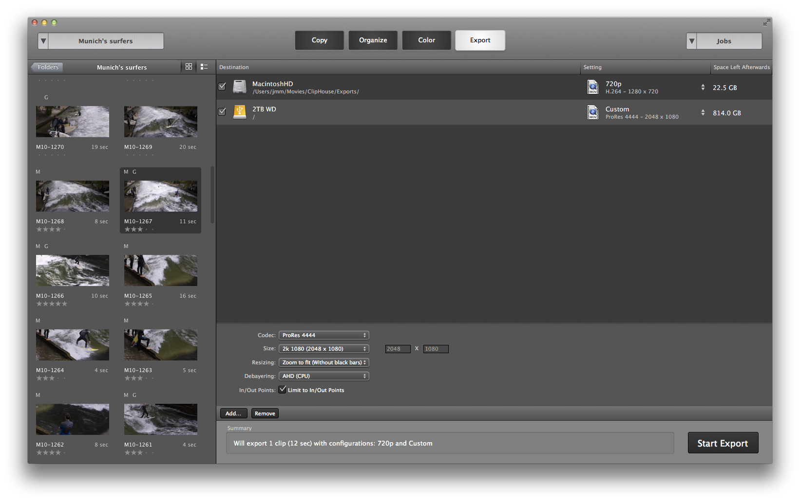 how to export raw dailies ready for editing