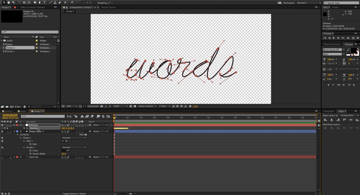 write on after effects Learn how to create a super slick and modern text animation in adobe after effects - great for video intros and infographics.