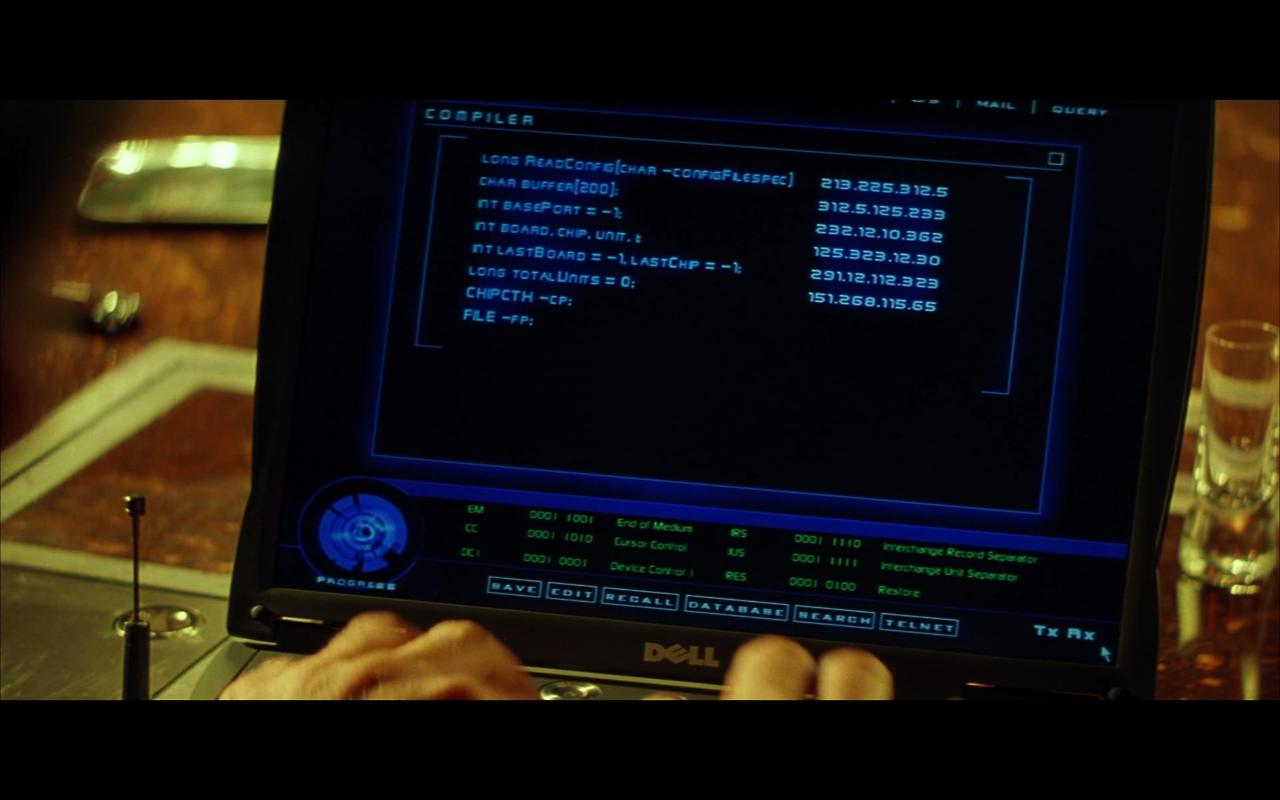 Screenshot from Swordfish