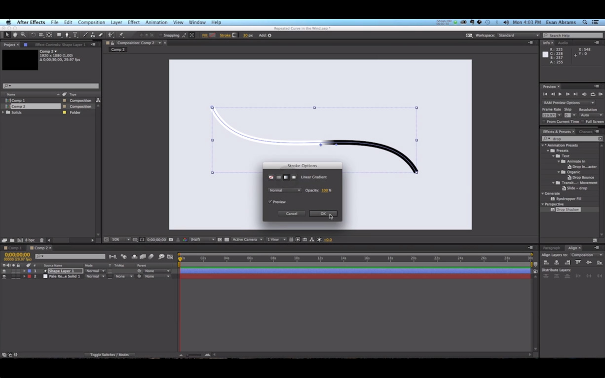 After Effects Video Tutorial: Fancy Write On Effect