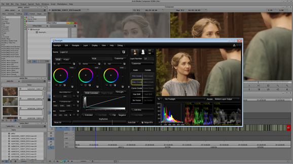 colour grading in baselight