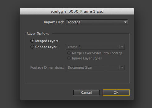 Looping frame animations in photoshop and after effects the beat click the photoshop sequence and force alphabetical order boxes before importing then import it as footage with merged layers ccuart Choice Image