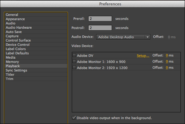 playing video on two monitors in premiere pro cc