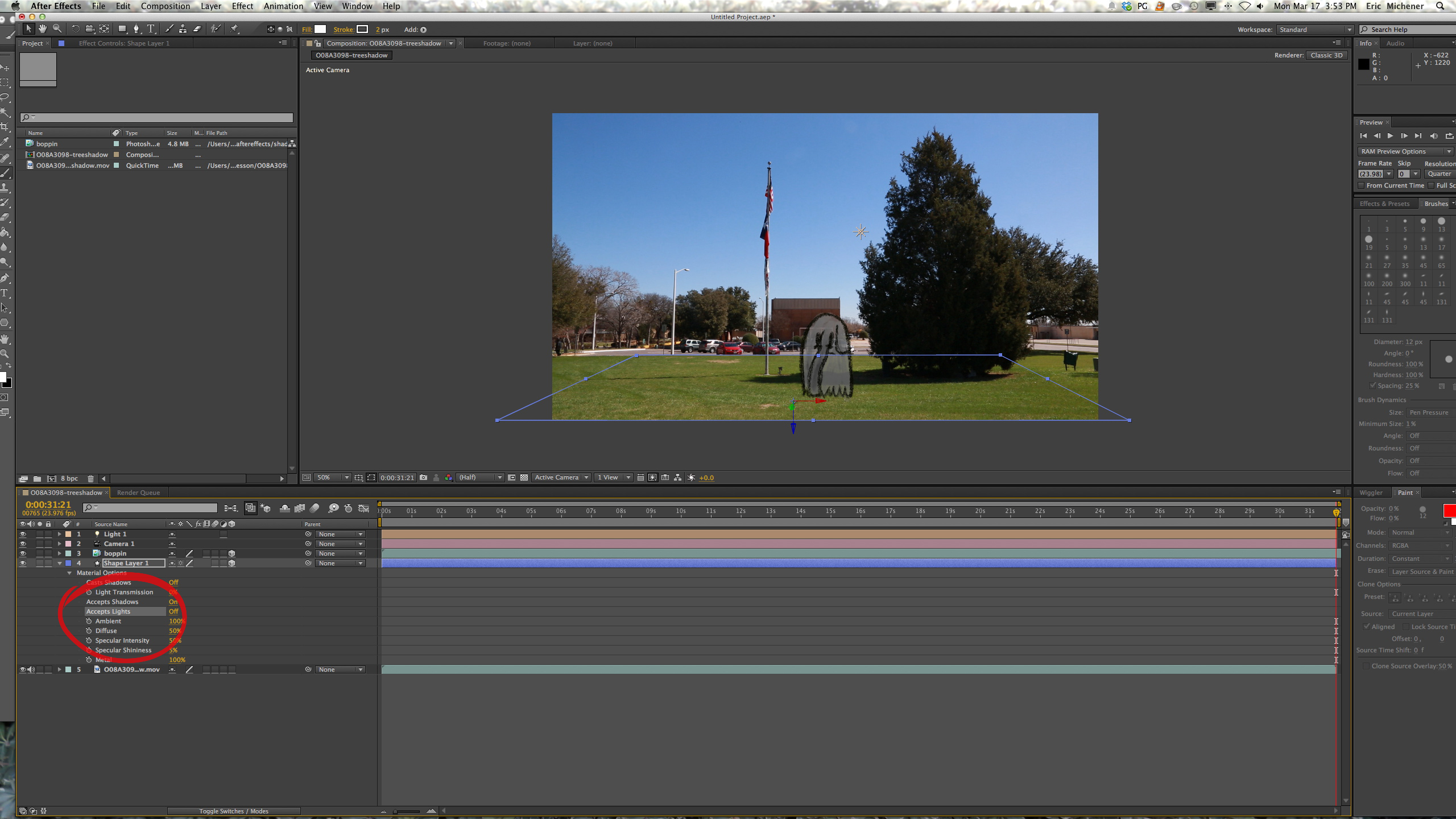 Light Settings After Effects