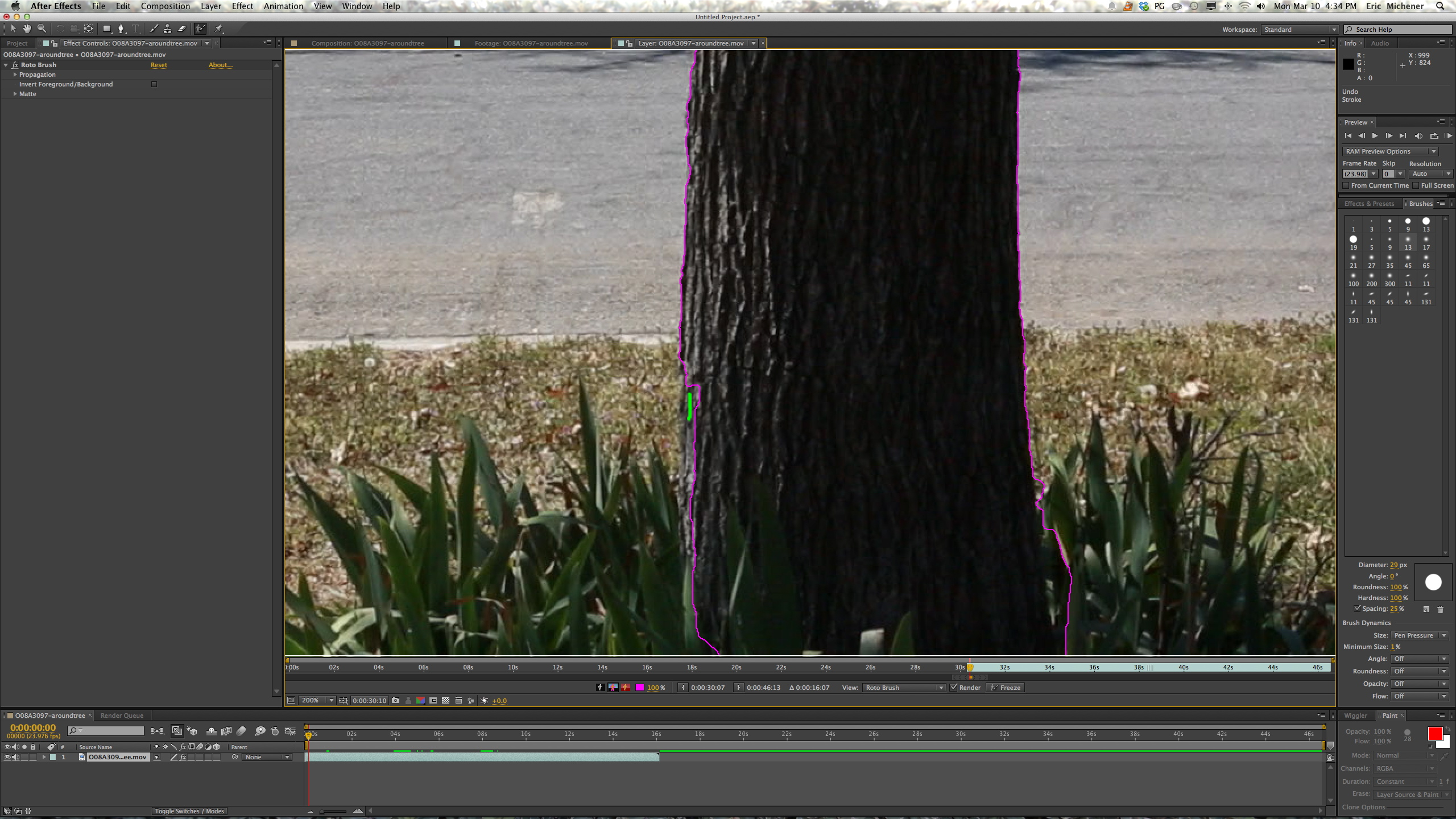 Watch How to Use the Roto Brush in Adobe AE video