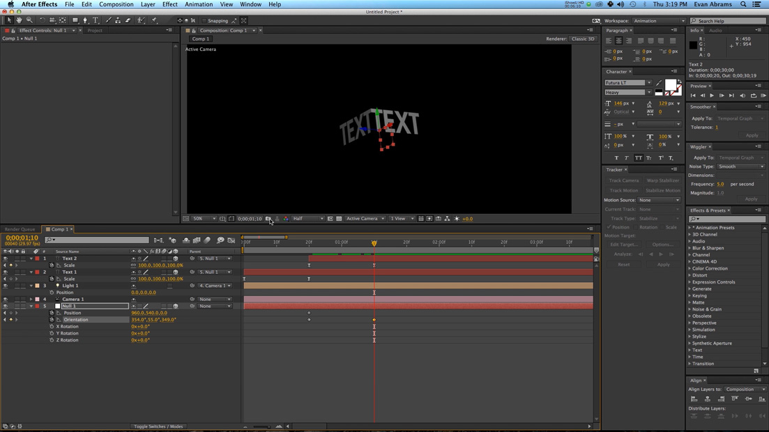 how to add text behind objects in after effects