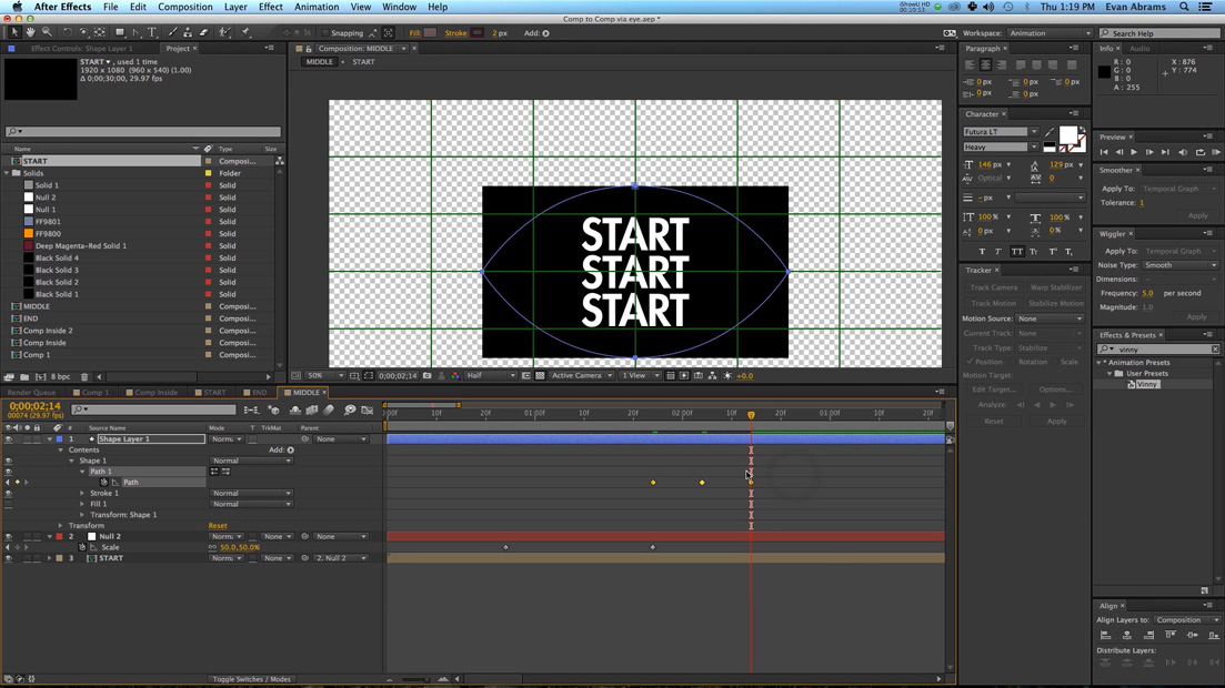 how to make fast forward keyframe in after effects