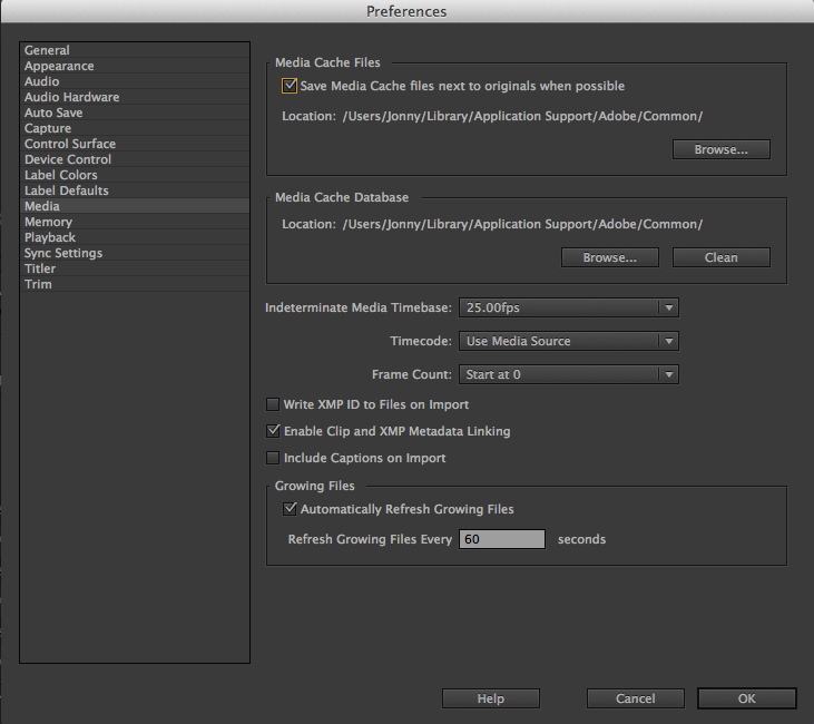 changing adobe media cache directory