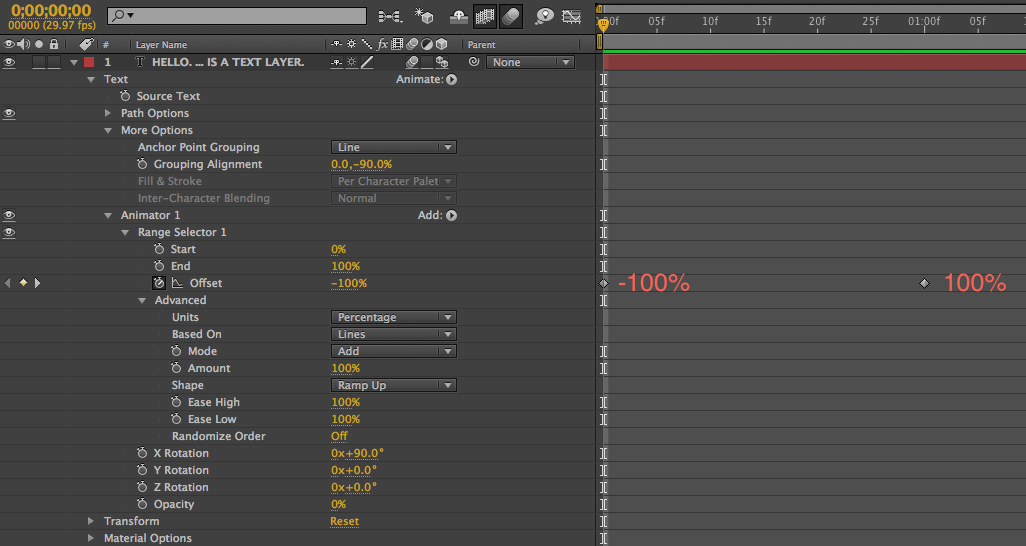 Animator 1 Keyframes