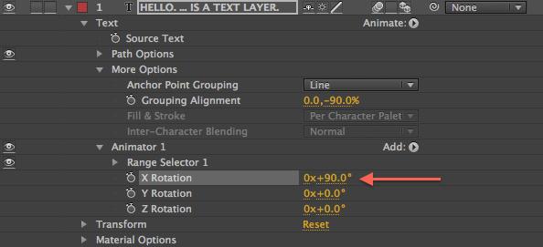 Animator 1 Rotation Value