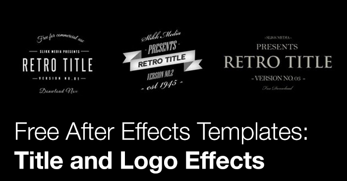 Free after effects templates title and logo effects the for Free after effects titles